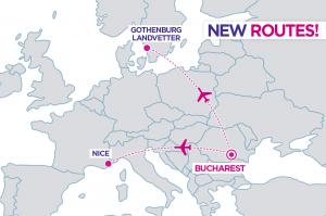Wizz Air a lansat două rute noi din București