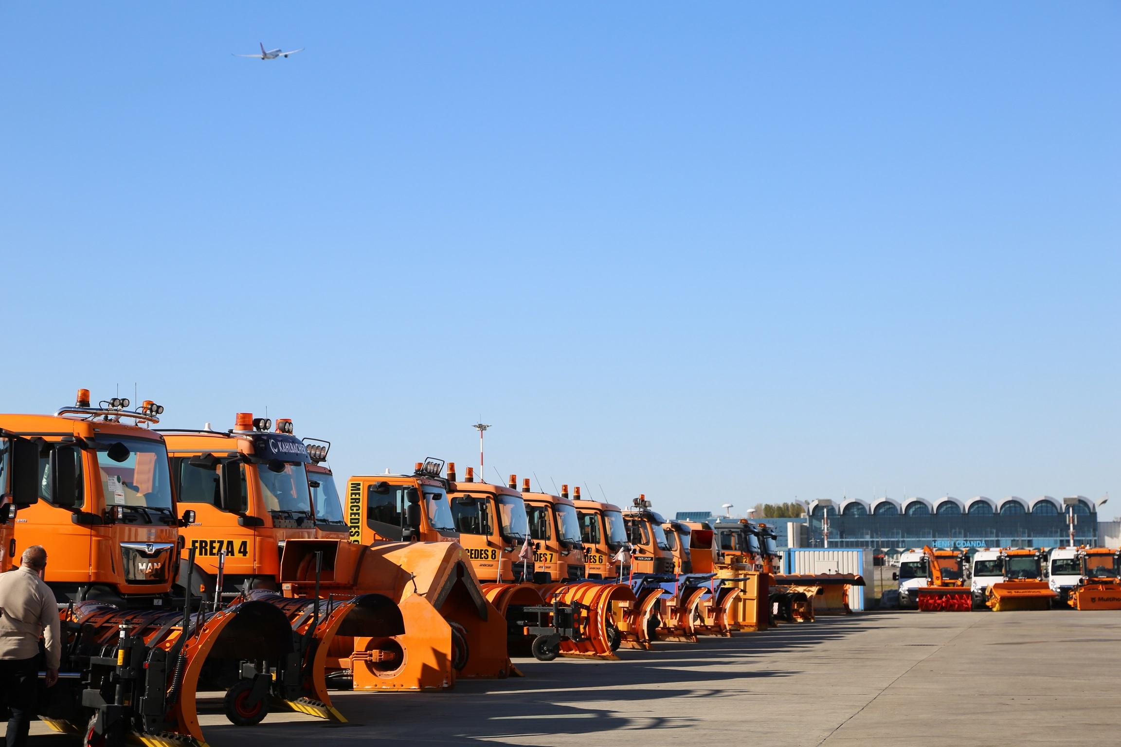 Aeroporturile din București sunt pregătite pentru iarnă