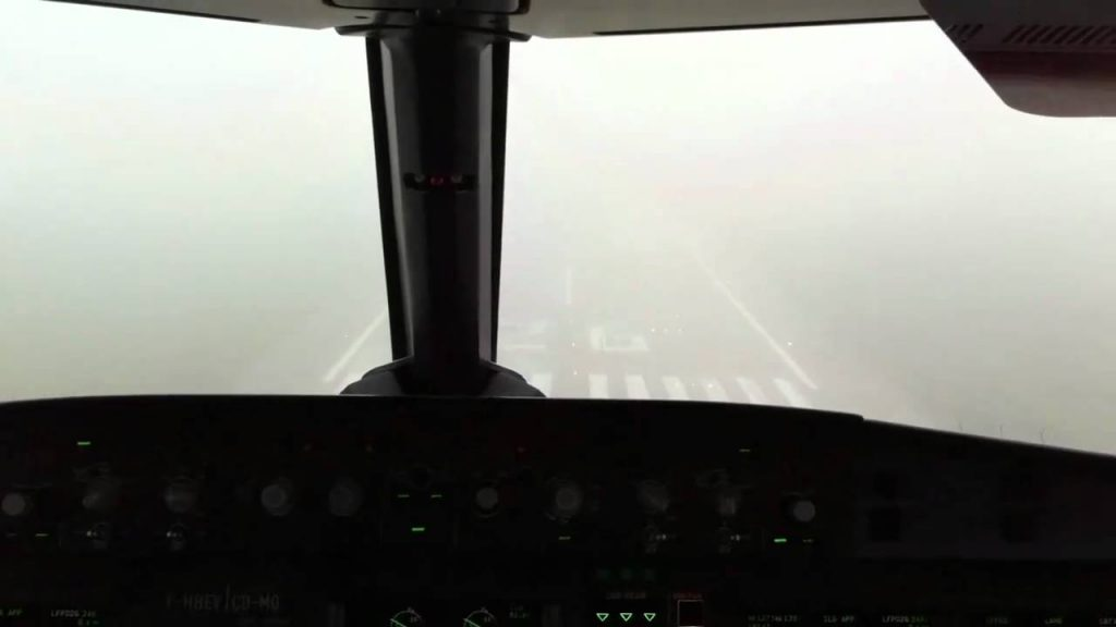 aterizare ceata