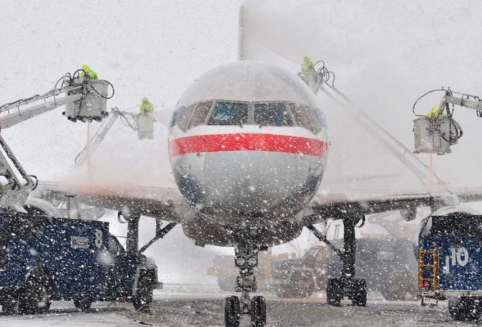 degivrare avion zapada