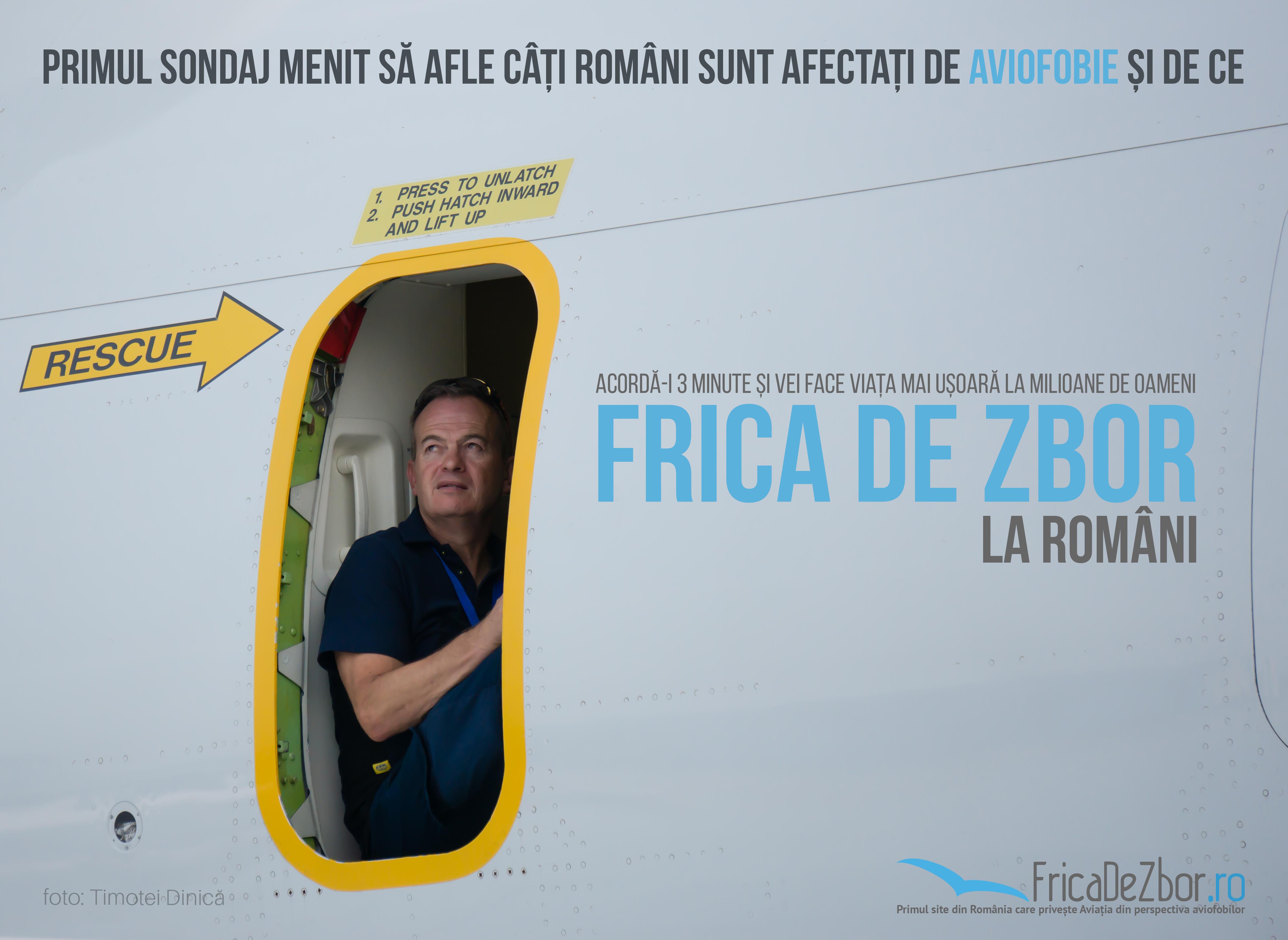 Frica de zbor la români